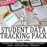 Student Data Tracking Pack, Goals Portfolio, Printable and Digital