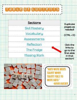 Digital Data Notebook for Google Classroom