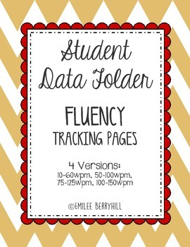 Student Data Tracking Folder - FLUENCY Tracking