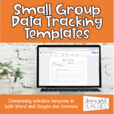 Editable Student Data Tracking Template