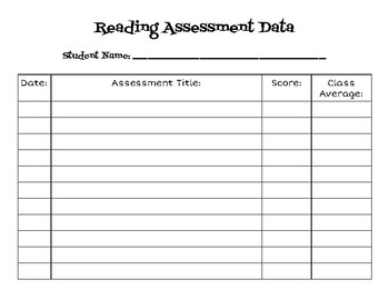 Student Data Tracking Sheet