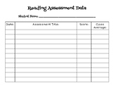 Student Data Tracking Sheet