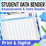 Student Data Tracking Sheets   Digital and Printable Data Binder