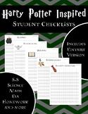 Student Data Worksheets- Harry Potter Inspired