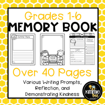 End of Year Coloring Page Cover Memory Book Activity
