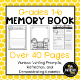 End of Year Coloring Page Cover Memory Book Writing Activity