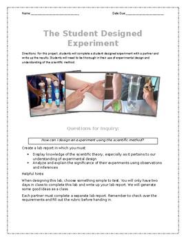 Student Designed Experiment