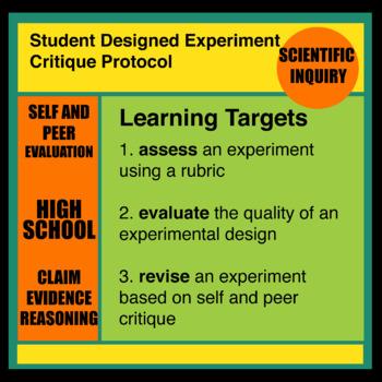 Student Designed Inquiry Experiment Self and Peer Critique