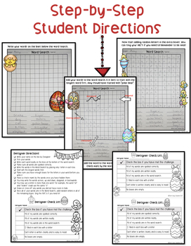 Student Designed Word Search Collaborative Project: Back to School