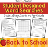 Student Designed Word Search Collaborative Project: Back t