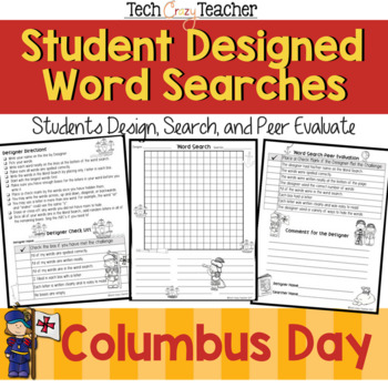 Student Designed Word Search Collaborative Project: Columbus Day