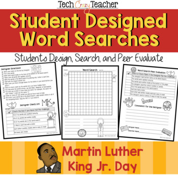 Student Designed Word Search Collaborative Project: Martin Luther King Jr. Day