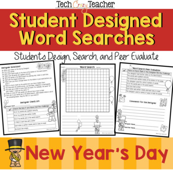 Student Designed Word Search Collaborative Project: New Year's Day