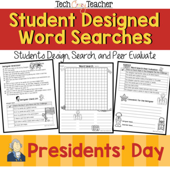 Student Designed Word Search Collaborative Project: Presidents' Day