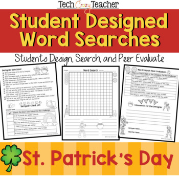 Student Designed Word Search Collaborative Project: St. Patrick's Day