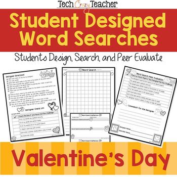 Student Designed Word Search Collaborative Project: Valentine's Day