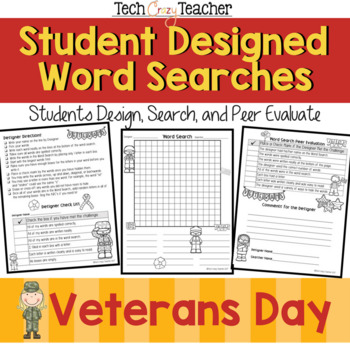 Student Designed Word Search Collaborative Project: Veteran's Day