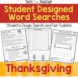 FREE Student Designed Word Search Collaborative Project: T