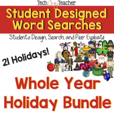 Student Designed Word Searches Whole Year Bundle!
