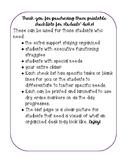 Student Desk Checklist