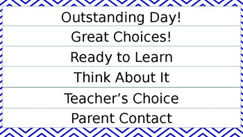 Student Desk Clip Chart in all chevron patterns to match classroom clip chart!