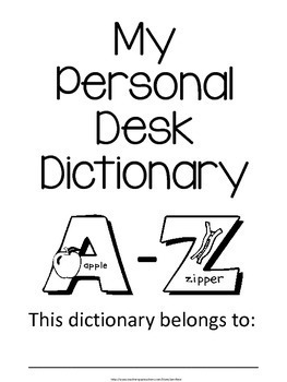 Student Desk Dictionary - Lined, Ready to Fill