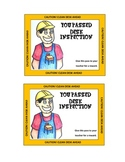 Student Desk Inspection Certificates