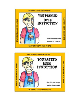 Student Desk Inspection Certificates