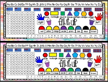 Student Desk Labels - Fill our Bucket Theme