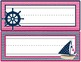 Student Desk Name Plate: Nautical Pink & Navy Theme