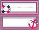 Student Desk Name Plate: Nautical Pink & Navy Theme