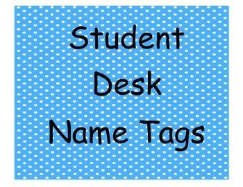 Student Desk Name Plates