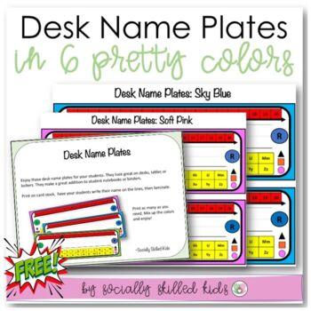 Classroom Decor {Student Desk Name Plates}