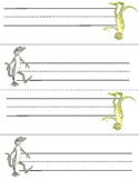 Student Desk Name Tag -- Gecko Themed