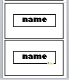 Student Desk Name Tags