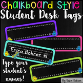 Student Desk/Name Tags: Chalkboard Brights