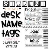 Student Desk Name Tags **Editable**
