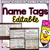 Student Desk Name Tags/Name Plates EDITABLE