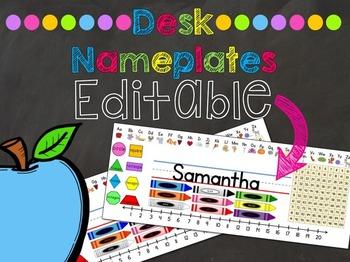Student Desk Nameplates