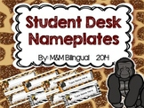 Student Desk Nameplates {Editable}