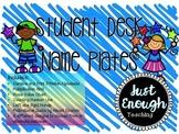 Student Desk Nameplates for Grade 3-4