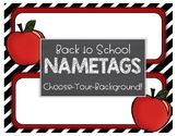 Back to School Student Nametags - Awesome Apples - Choose