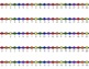 HORIZONTAL Student Desk Number Lines - Rainbow Primary (0-10 to 0-30)