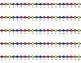 HORIZONTAL Student Desk Number Lines - Rainbow Primary (0-