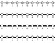 HORIZONTAL Student Desk Number Lines - Tuxedo Black and White (0-10 to 0-30)