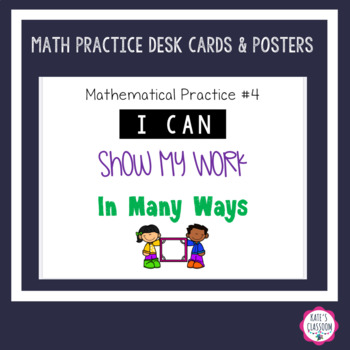Math Practices -  Labels & Classroom Posters