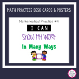 Math Practices - Student Desk Reminder Cards/Labels & Clas
