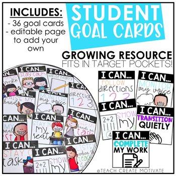 Student Goal Cards {Editable}