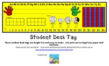 Student Desk Tags