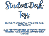 Student Desk Tags - Accountable Talk & Levels of Understanding